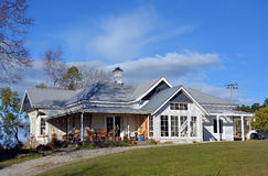 New Zealand Traditional Wooden Farm House. In Geraldine, South Canterbury stock photo