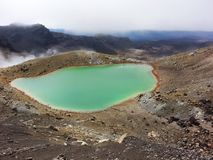the emerald-colored lake stock photos
