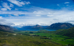 New Zealand Valley Landscape stock photography