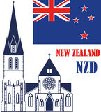 New Zealand. Vector illustration (EPS 10 Royalty Free Stock Images