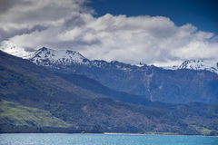 New Zealand, View of Alpine mountains and Lake Wanaka Stock Images