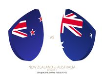 New Zealand vs Australia, 2018 Rugby Championship, round 2. New Zealand vs Australia, 2018 Rugby Championship, round 2 royalty free illustration