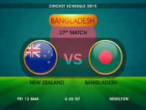 New Zealand vs Bangladesh, Cricket match schedule. Royalty Free Stock Photo