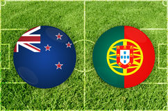 New Zealand vs Portugal football match Royalty Free Stock Images