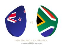 New Zealand vs South Africa, 2018 Rugby Championship, round 4. New Zealand vs South Africa, 2018 Rugby Championship, round 4 royalty free illustration