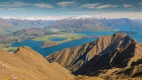 NEW ZEALAND Wanaka lake from Roys Peak stock photos