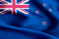 New zealand flag illustration stock illustration