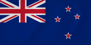 New Zealand waving flag Royalty Free Stock Image