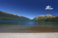 New Zealand West Coast as seen from the Knight's Point. Beach, T Stock Photography