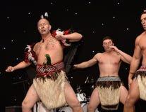 New Zealands Haka. Mauri Warriors performing the Haka Royalty Free Stock Photo