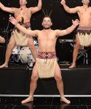 New Zealands Haka. Mauri Warriors performing the Haka Stock Photos