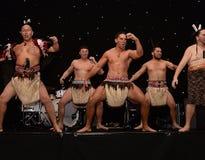 New Zealands Haka. Mauri Warriors performing the Haka Royalty Free Stock Photography