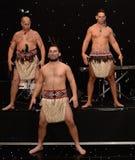 New Zealands Haka. Mauri Warriors performing the Haka Stock Photo