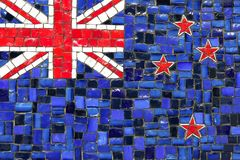New zeland mosaic flag Stock Photography