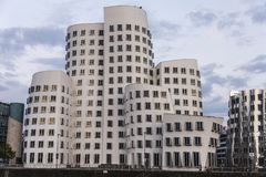 New Zollhof buildings in Media Harbor in Dusseldorf, Germany Royalty Free Stock Photography