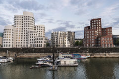 New Zollhof buildings in Media Harbor in Dusseldorf, Germany Stock Image