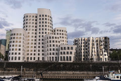New Zollhof buildings in Media Harbor in Dusseldorf, Germany Stock Photos