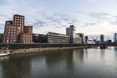 New Zollhof buildings in Media Harbor in Dusseldorf, Germany Stock Photo