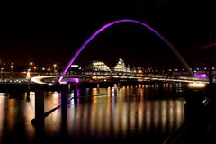 Newacastle Quayside. Glow Trail Event, where the toon was painted pink stock photography