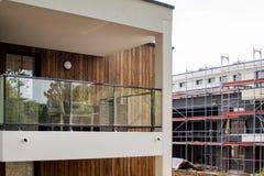 Newar konstruktionsplats ett nytt hem Royaltyfri Foto