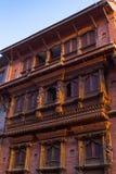 Newararchitectuur - Bhaktapur, Nepal Stock Afbeeldingen