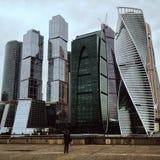 Newarchitecture de Moscowcity Moscou Rússia Imagens de Stock