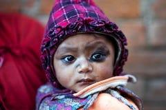 Newari女孩,尼泊尔 免版税库存图片