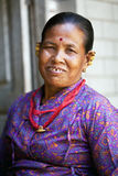 Newaris kobieta, Nepal Zdjęcia Stock