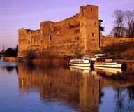 Newark Caste England. Newark castle stands on the banks of the river trent in Nottinghamshire.Newark is an oldmarket town Stock Images