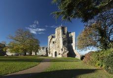 Newark Castle Gardens, Newark, Nottinghamshire, UK, October 2018 - remains of Newark Castle stock image