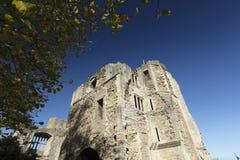 Newark Castle Gardens, Newark, Nottinghamshire, UK, October 2018 - remains of Newark Castle stock photos