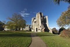 Newark Castle Gardens, Newark, Nottinghamshire, UK, October 2018 - remains of Newark Castle stock photo