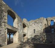 Newark Castle Gardens, Newark, Nottinghamshire, UK, October 2018 - remains of Newark Castle stock photography