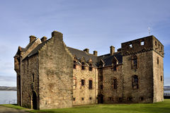 Newark Castle. View, looking north-east, of Newark Castle situated on the south of the river Clyde at Port Glasgow, Inverclyde, Scotland Stock Photos