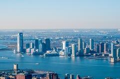 Newark e New York City Imagem de Stock Royalty Free