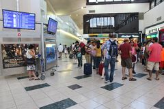 Newark-Flughafen Stockfotos