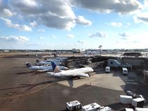 Newark flygplats royaltyfri fotografi