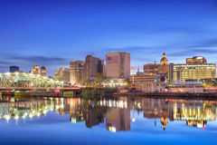 Newark, New Jersey Skyline. Newark, New Jersey, USA skyline on the Passaic River Royalty Free Stock Image