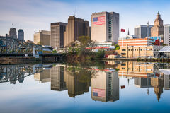 Newark, New Jersey, USA. Skyline on the Passaic River Stock Image