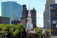 Newark, NJ: Broad Street & Church Stock Photo