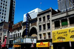 Newark, NJ:  Broad Street Stores and Newark Theatre Royalty Free Stock Image