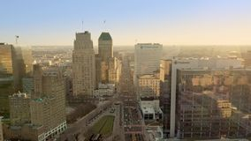 Drone footage of Newark, New Jersey stock video