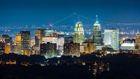 Newark, NJ, linia horyzontu Zdjęcia Royalty Free