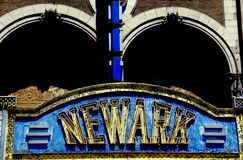 Newark, NJ: Marquee of Paramount Theatre Stock Photos