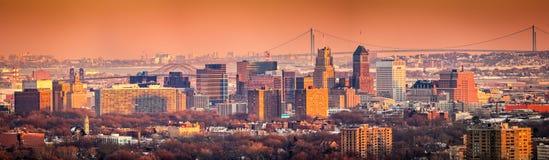 Newark Nowy - dżersejowa linia horyzontu Zdjęcie Royalty Free