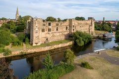 Newark-Schloss in England, Großbritannien stockfotografie