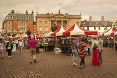 Newark-on-Trent market day. Royalty Free Stock Photos