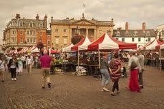 Newark--Trent no dia de mercado. Fotos de Stock Royalty Free