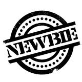 Newbie rubber stamp Royalty Free Stock Image