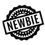 Newbie rubber stamp Stock Images